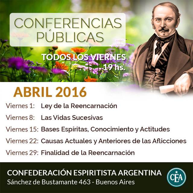 Conferencias Públicas - Abril 2016