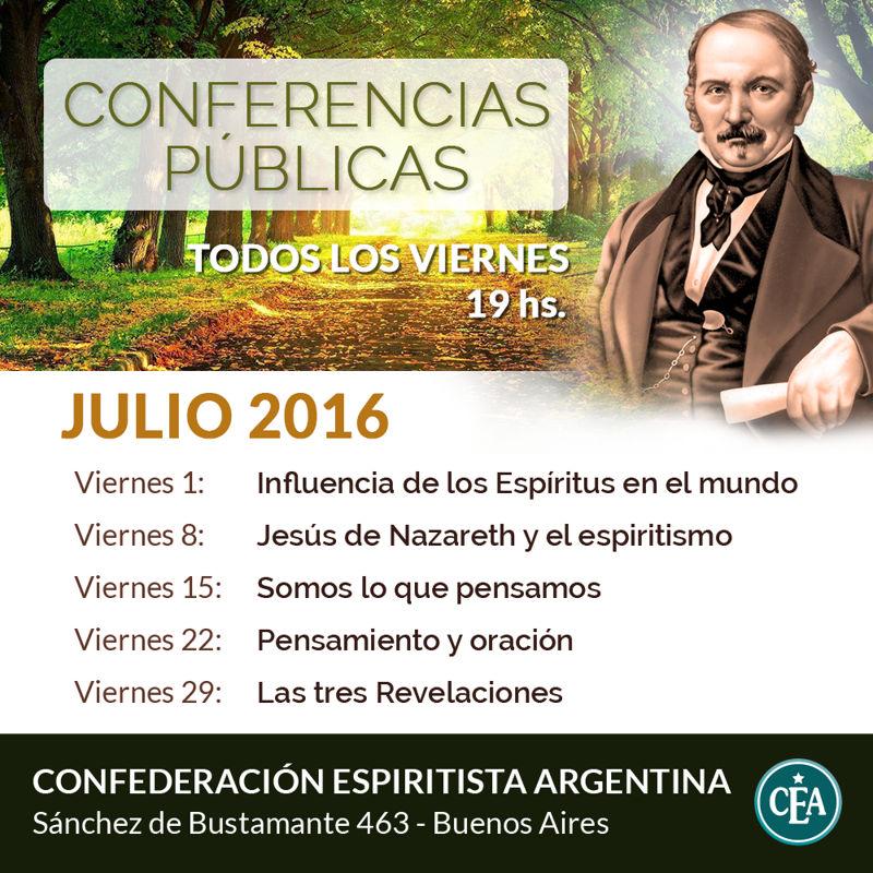 Conferencias Públicas - julio 2016