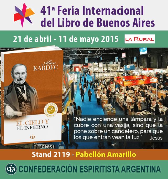 Confederación Espiritista Argentina en la Feria del Libro