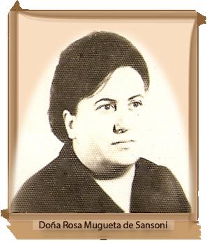 Doña Rosa Mugueta de Sansoni