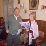 Juan Sak y Nilda Serio en la Asociación Espírita Amor y Caridad
